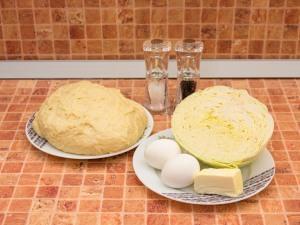 Пирожки с капустой. Ингредиенты