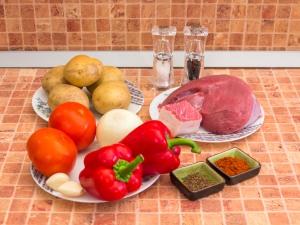 Венгерский суп Гуляш. Ингредиенты