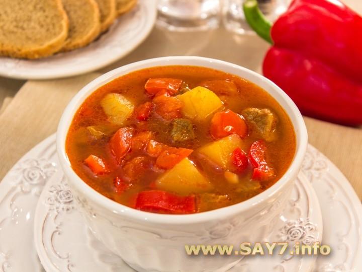 Рецепт Венгерский суп «Гуляш»