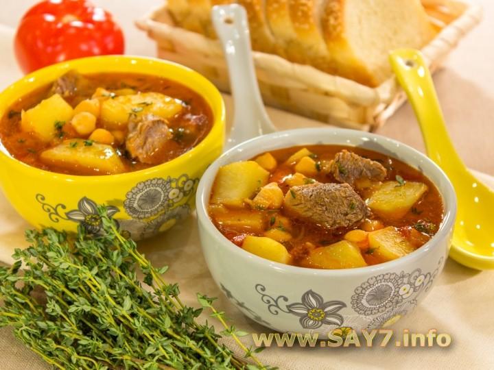 Рецепт Суп с нутом и бараниной