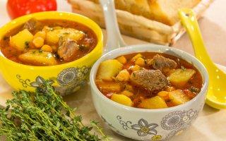Суп с нутом и бараниной