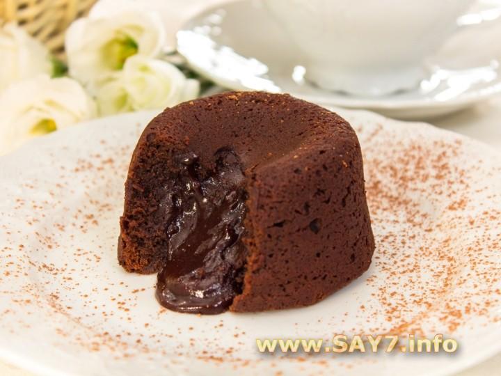 Рецепт Шоколадный фондан (кексы с жидкой начинкой)