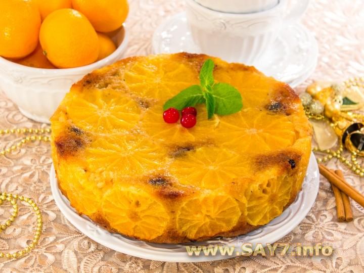 Рецепт Цитрусовый пирог «Рождественский»