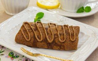 Шоколадные блинчики с ромом – кулинарный рецепт