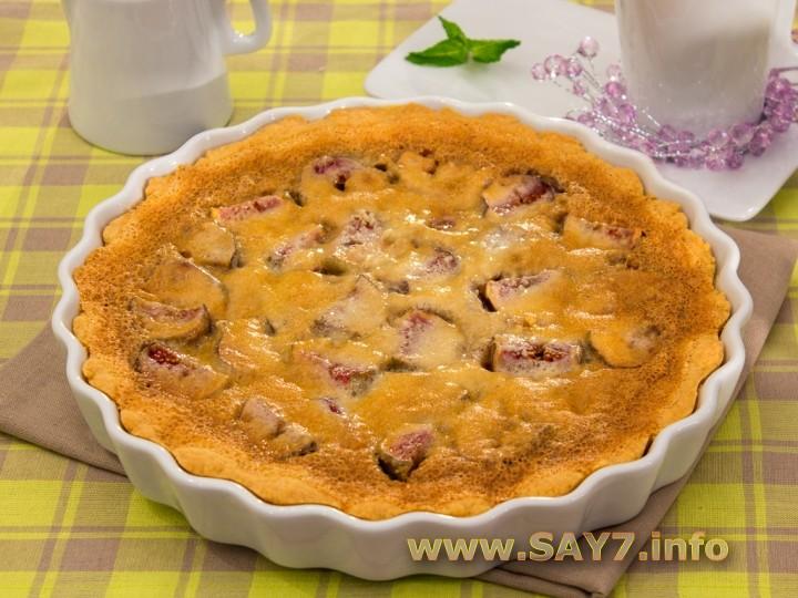 Рецепт Пирог с инжиром и миндальным кремом