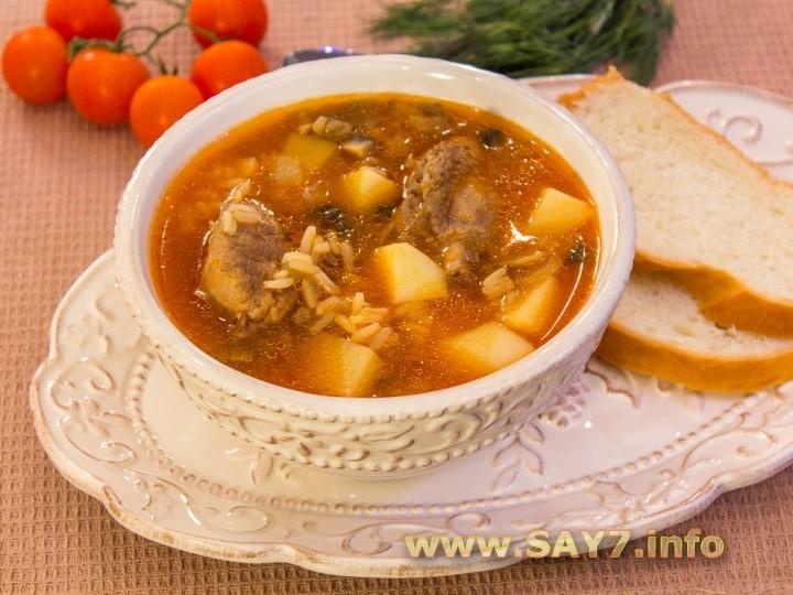 Рецепт Суп с уткой, рисом и грибами