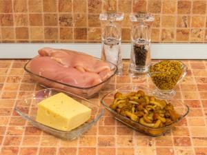Куриное филе, запеченное с опятами. Ингредиенты