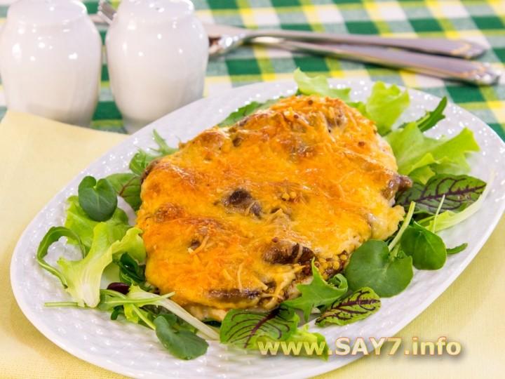 Рецепт Куриное филе, запеченное с опятами