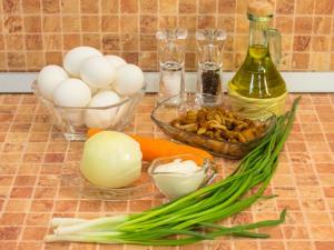 Яйца, фаршированные грибами. Ингредиенты
