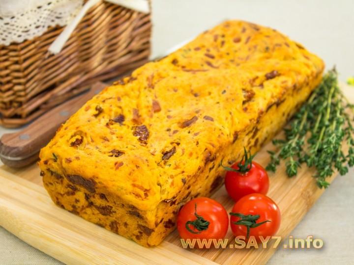 Рецепт Хлеб с вялеными помидорами, сыром и тимьяном