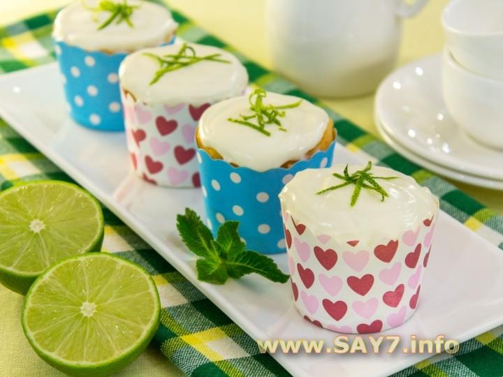 Рецепт Кексы с лаймовым кремом