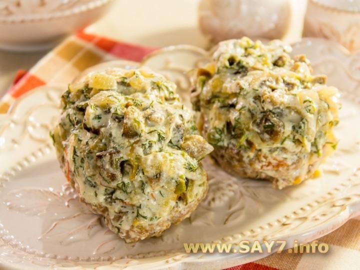 Рецепт Котлеты, запеченные в духовке под грибным соусом