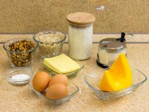 Кексы с тыквой, грецкими орехами и овсянкой. Ингредиенты