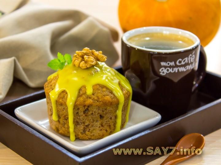 Рецепт Кексы с тыквой, грецкими орехами и овсянкой