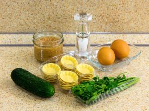 Тарталетки с салатом из тунца. Ингредиенты