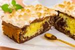 Шоколадно-кокосовый кекс с маршмеллоу