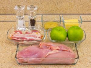 1192 0100197t3 3731 p Рецепт: Куриное филе, запеченное с беконом и яблоками