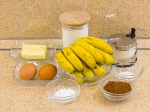 1197 010035onj 6525 p Рецепт: Шоколадный пирог с бананами и карамельным соусом