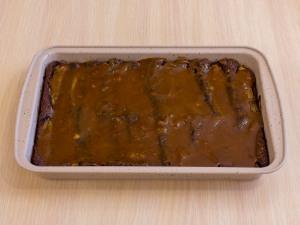 1197 0113461q 6815 p Рецепт: Шоколадный пирог с бананами и карамельным соусом
