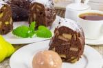 Шоколадная шарлотка с грушей