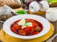 Суп со свеклой и фасолью