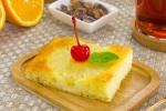 Апельсиново-творожный пирог с ананасами