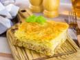 Пирог с треской, белыми грибами с тестом фило