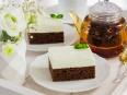 Шоколадный ломтик со сливочным суфле